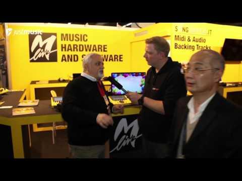 Musikmesse 2016 - M-Live Merish 4 MIDI-, MP3- und Videoplayer.