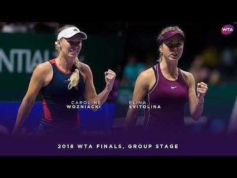 Caroline Wozniacki vs. Elina Svitolina | 2018 WTA Finals Singapore Round Robin | WTA Highlights