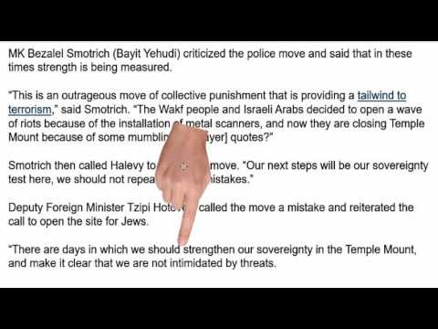 The question of sovereignty of the Temple Mount in East Jerusalem.