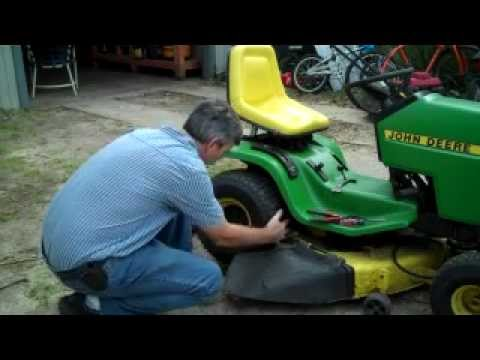 Removing Wheel From John Deere Garden Tractor Youtube