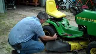 Removing wheel from John Deere Garden Tractor