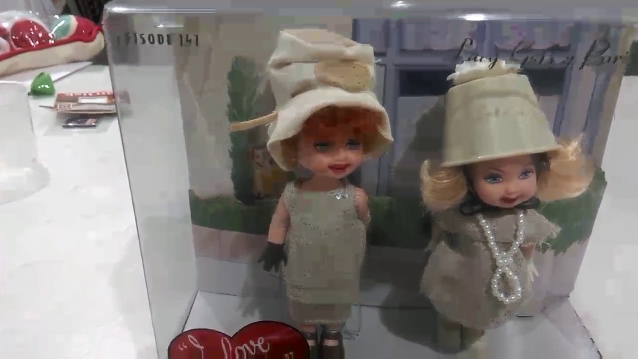 BARBIE COLLECTOR I LOVE LUCY EPISODE 147 LUCY GETS A PARIS GOWN ...