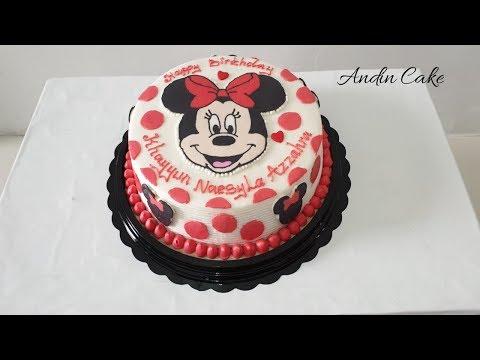 Minnie mouse-Cara membuat kue Ulang Tahun minnie mouse