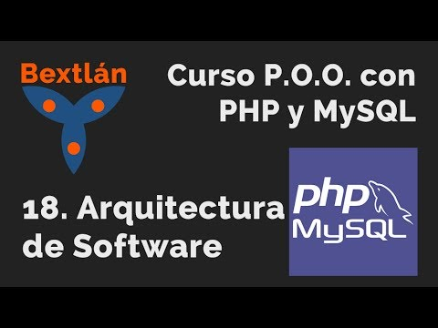 Curso p o o con php y mysql 18 arquitectura de software for Curso arquitectura software