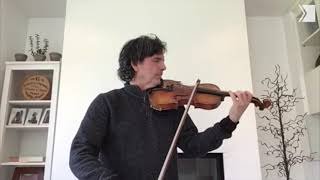 TSO Assistant Concertmaster Marc-André Savoie plays Bach to hone his art | Musical Moment