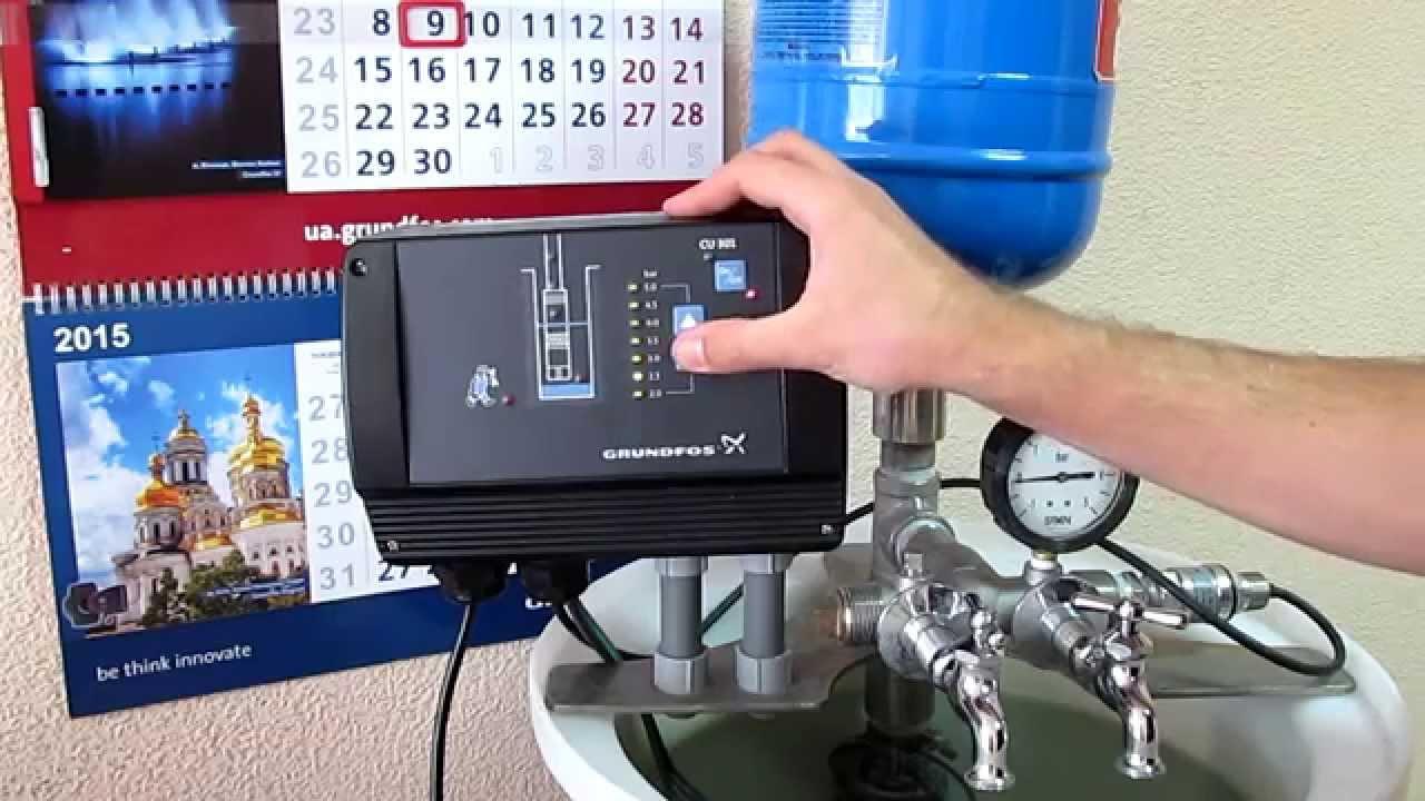 Работа скважинного насоса с частотным регулированием Grundfos SQE