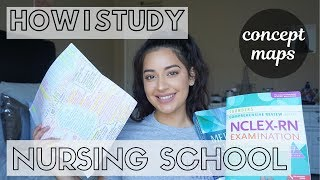 How I Study in NURSING SCHOOL in Detail (Med-Surg) | Concept Maps