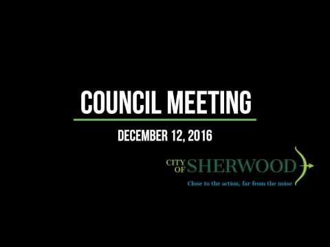 Council Meeting December 19th 2016
