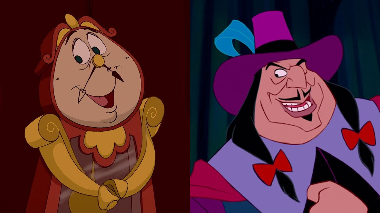 Disney Doppelgängers: Cogsworth & Governor Ratcliffe