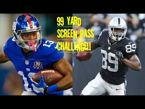 WHO CAN GET A 99YD SCREEN PASS?!? ODELL BECKHAM JR VS AMARI COOPER!! NO ONE CAN STOP THEM!!