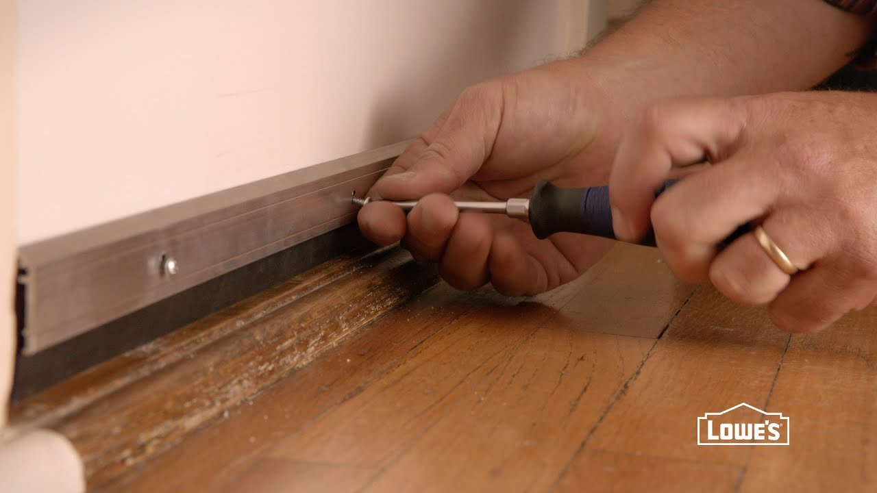 How to Install a Door Sweep & How to Install a Door Sweep - YouTube