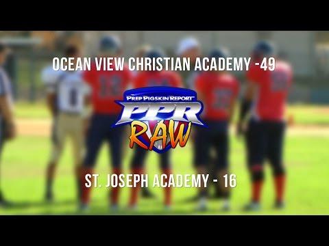 Week 5 Raw: Ocean View Christian Academy 49, St. Joseph Academy 16