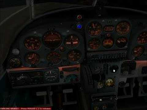 FS2004 SibWings SAAB 91 Safir night panel preview