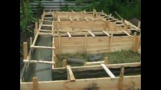 Фундамент для бани своими руками(Строительство бани, пошагово своими руками., 2016-01-30T22:37:37.000Z)