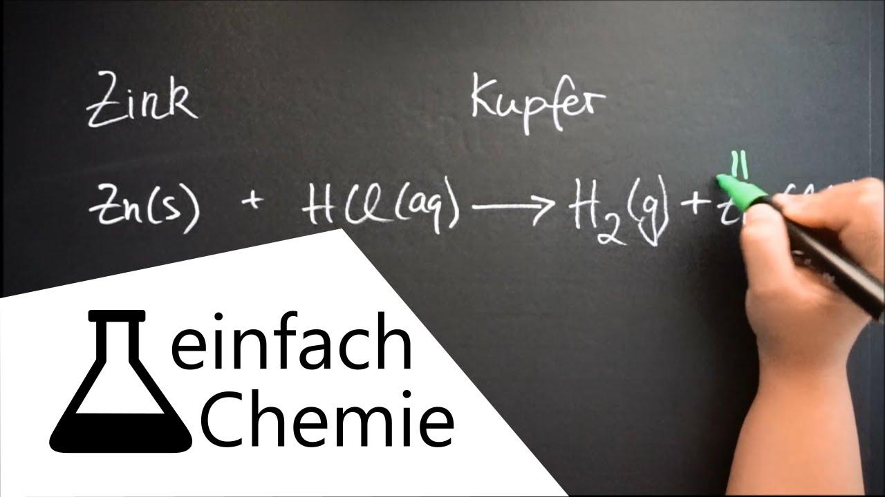 Reaktionsgleichungen aufstellen - Die Reaktion von ...