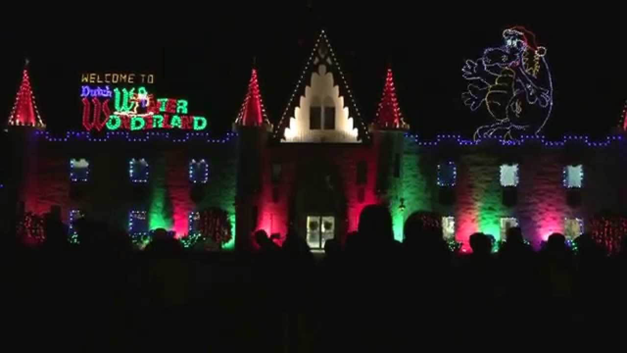 dutch winter wonderland castle lighting