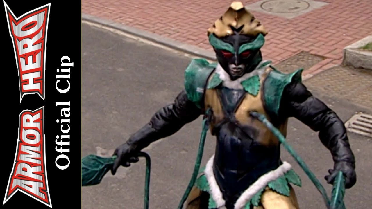 Fights with the green monster armor hero official english clip hd