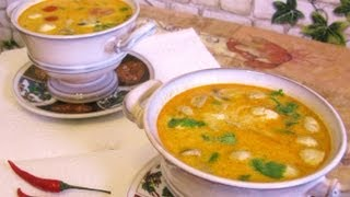 Тайский суп Tom Kha Gai   Том Кха Кай (наш вариант)