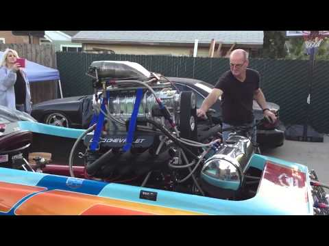 Terry Frisby's Cole flat bottom blown gas race boat