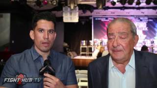 Bob Arum on Canelo Golovkin call out & dropping title