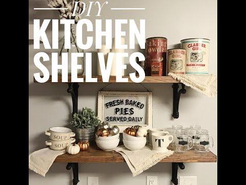 DIY - Easy - Affordable Kitchen Shelves