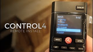 The Home Theater Project: Control4 Remote Install