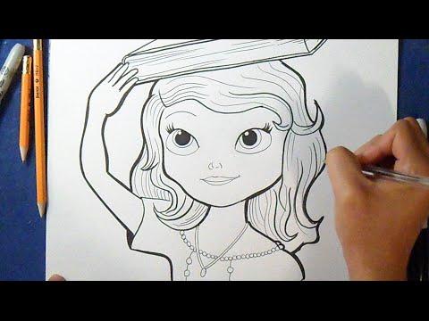 Como Desenhar O Princesa Sofia 2 Da Disney Youtube