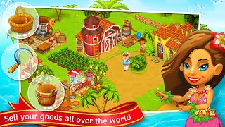 Paradise Day Farm Island Bay Simulation Android İos Free Game GAMEPLAY VİDEO