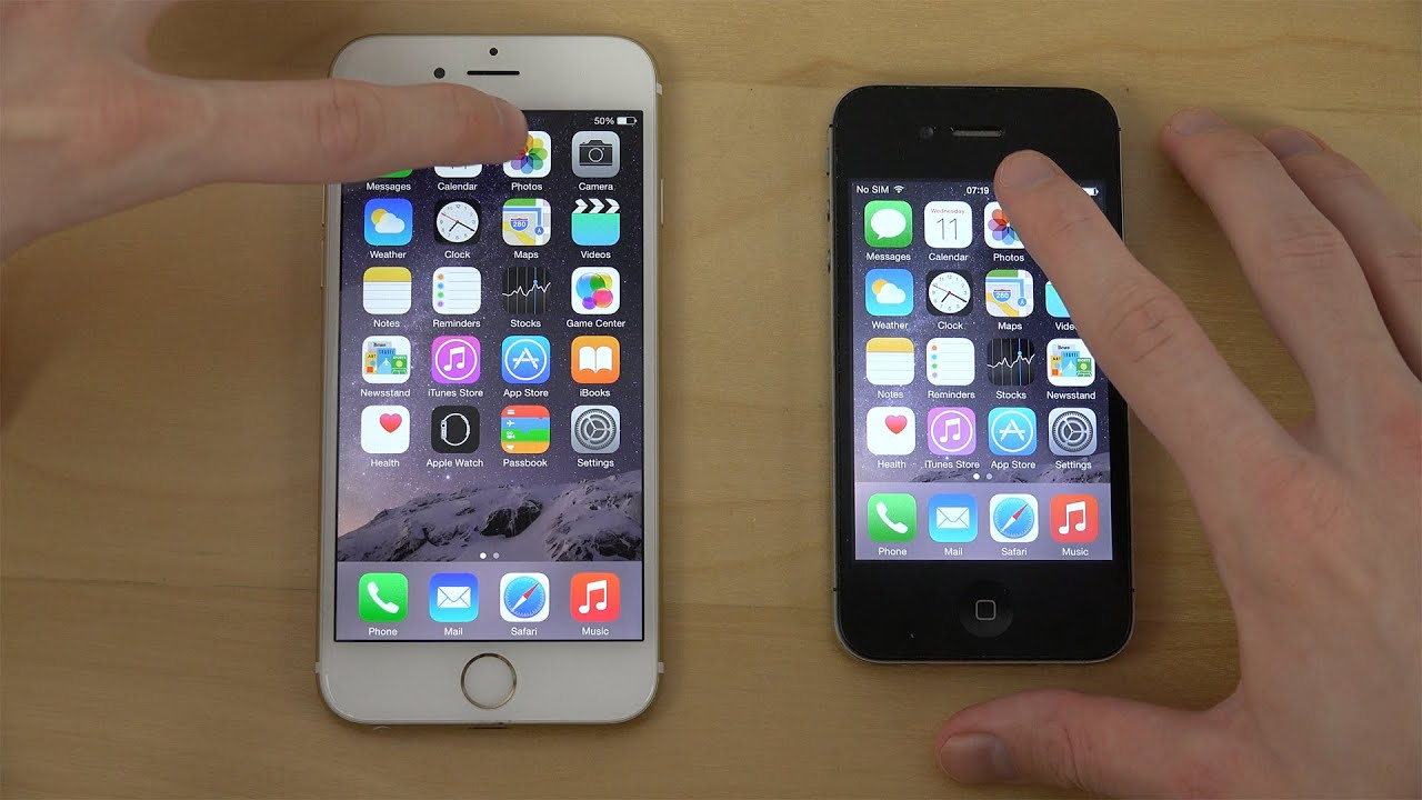 Official iOS 8.2: iPhone 6 vs. iPhone 4S - App Opening ...