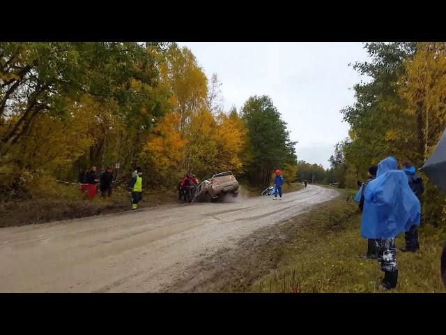 Spectator gets huge load of trench water - Saaremaa Rally 2017