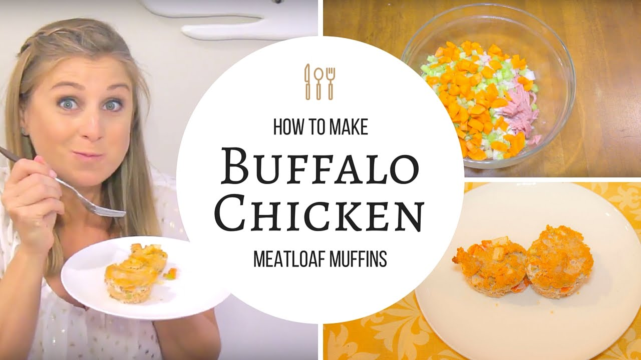 EAT | Meal Prep Recipe: Buffalo Chicken Meatloaf Muffins - YouTube