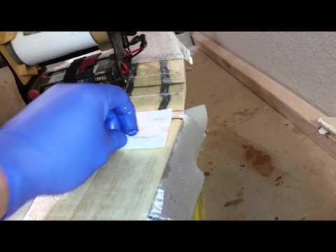Fiberglassing a wing