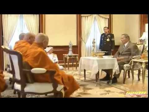 """""""ในหลวง"""" ให้ """"สมเด็จพระวันรัต"""" เฝ้าฯถวาย พระพุทธรูปฉลองพระชนมพรรษา 16 เม.ย. 57"""