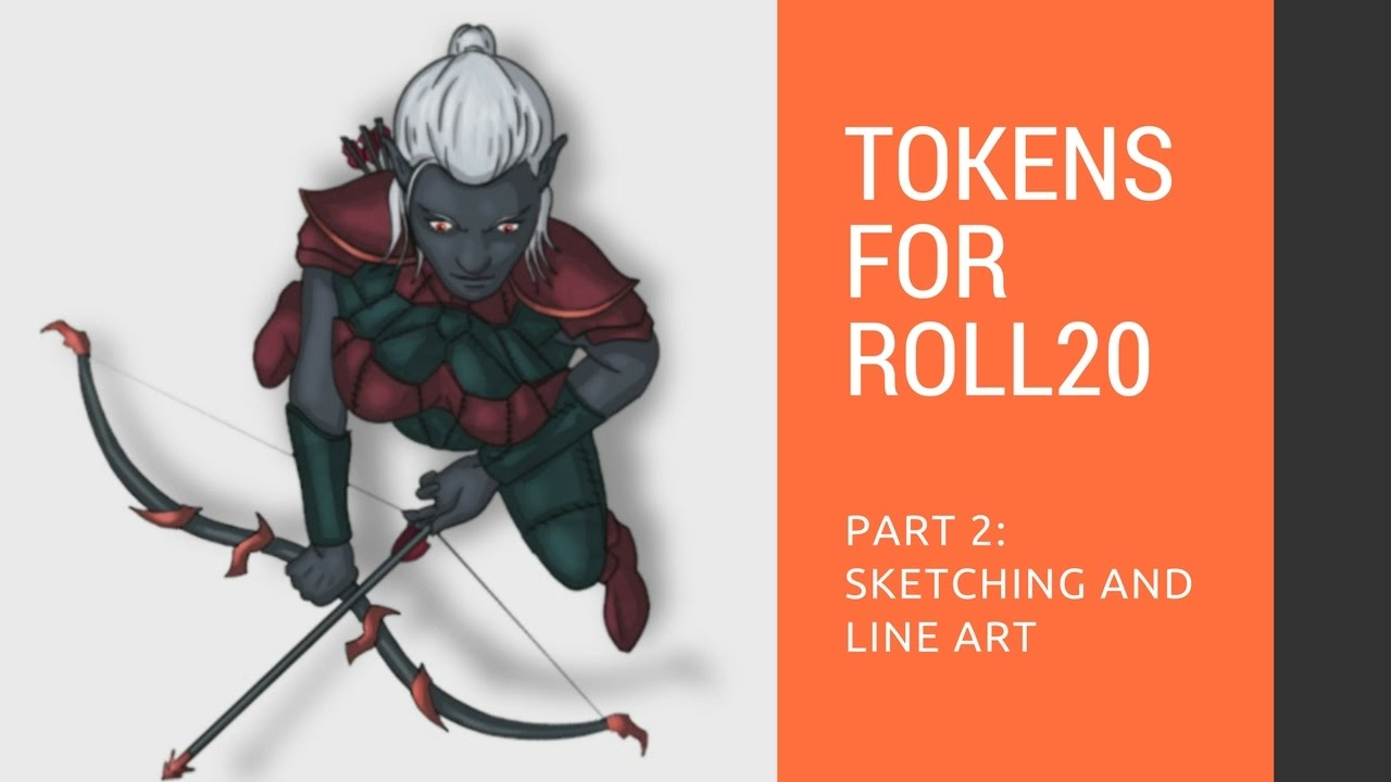 Creating tokens for Roll20 - Part 3: Coloring and shading