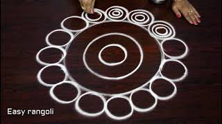 latest rangoli designs with out dots - creative kolam designs - muggulu designs without dots