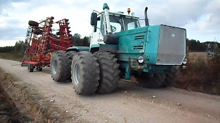 XTZ T-150K tractor with JAMZ 238 engine + Potila Master 800 cultivating