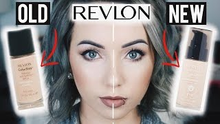 Foundation Friday! REVLON COLORSTAY OLD FORMULA VS. NEW FORMULA First Impression Review