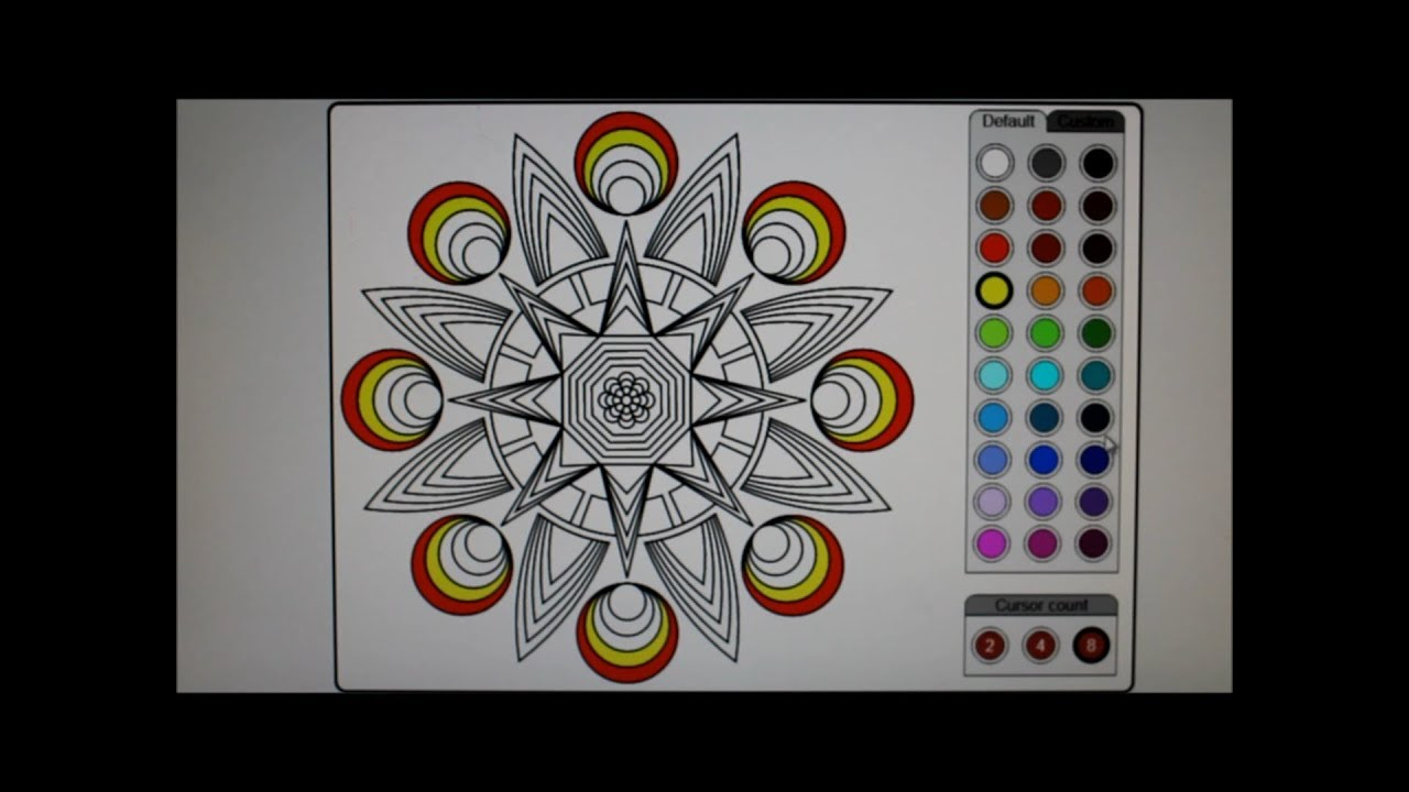 - Online Mandala Coloring Pages Online Coloring - YouTube