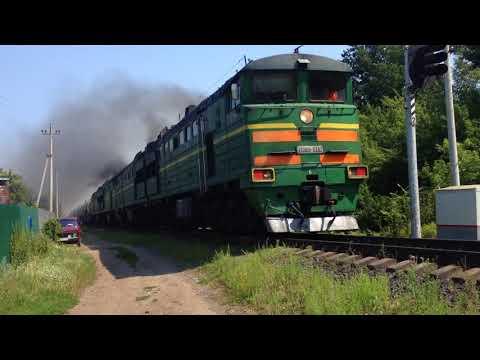 2тэ10у-382 и 2тэ10у-236/355 со Смоленском в Моршанске