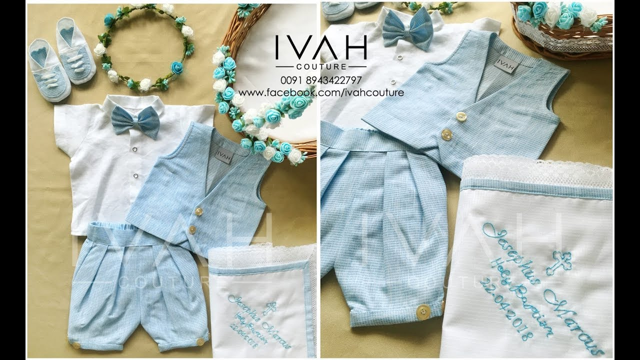 Baptism Dress Collection For Baby Boy Christening Dress