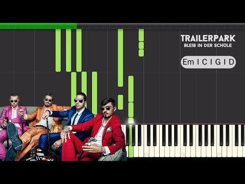 Trailerpark - Bleib In der Schule - Hook Piano Tutorial