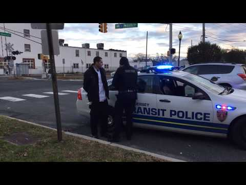 Traffic Stop/Driver Being Arrested.  NJ Transit Police Department (Ad Friendly) 11-27-18