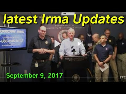 Latest Irma update September 9, 2017, updates from the last hour.