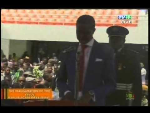 Inauguration Ceremony Zambia 2015 in full
