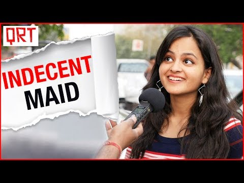 Thumbnail: My MAID is Very Indecent | Funny Hindi comedy | Delhi Girls Vs Mumbai Girls | Quick Reaction Team