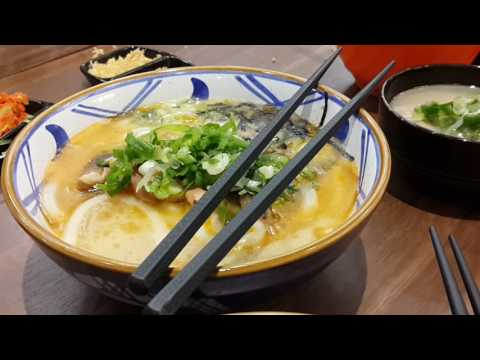 Marugame Udon - spicy tori baitan