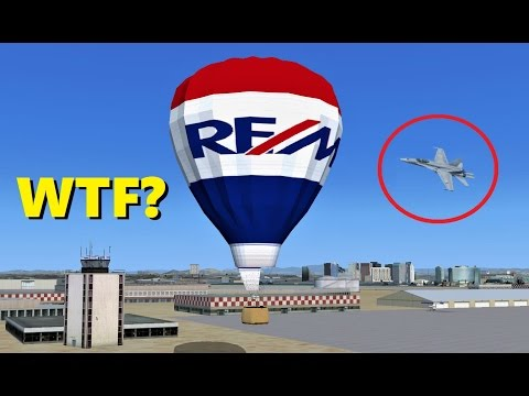 "Trolling a ""MILITARY AIRCRAFT ONLY"" Session - Flight Simulator X (Multiplayer)"
