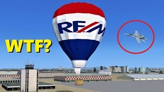 trolling a military aircraft only session flight simulator x multiplayer