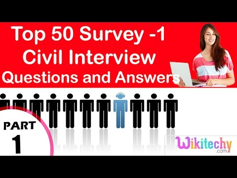 Top 50 Survey -1 Civil Technical Interview Questions and Answers Tutorial for Fresher Online
