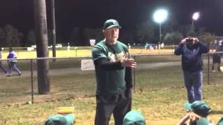 "Little League Pregame Speech- ""Your dad's a loser"""